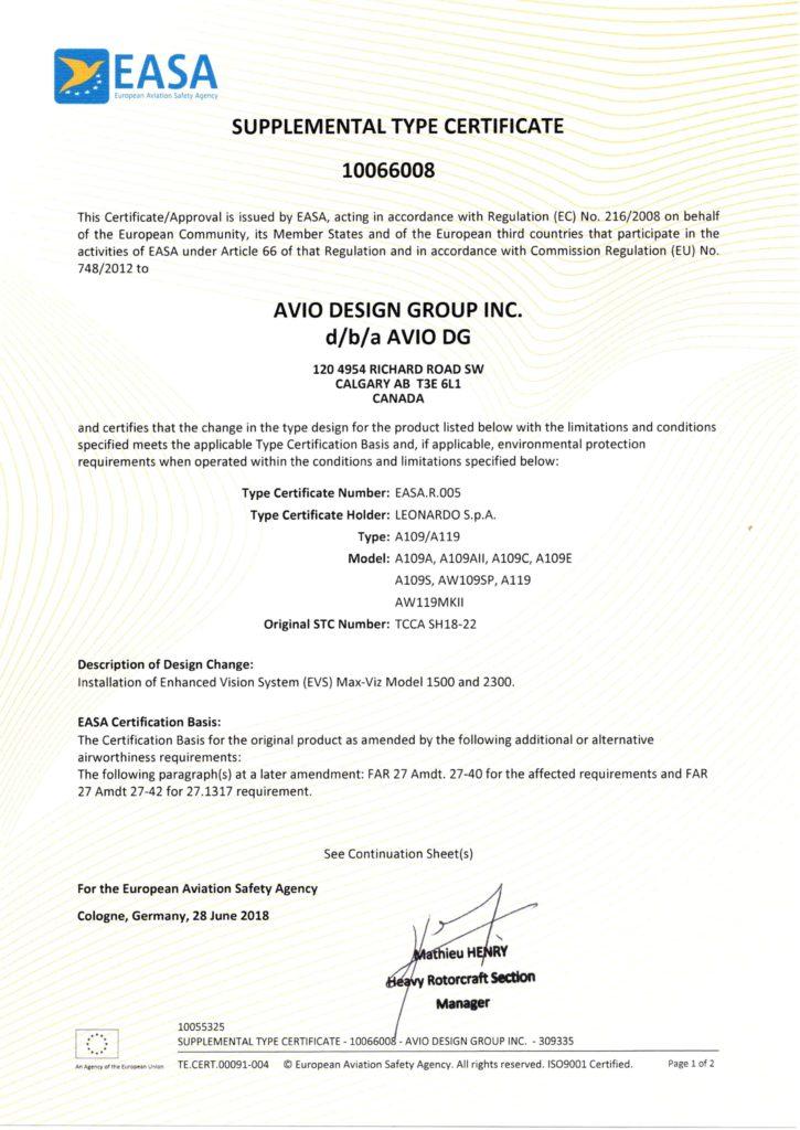 Avio design group image of EASA STC 10066008_Page_1